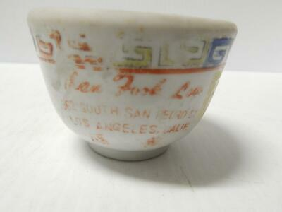F.s .Louie Vintage Chinese Advertising Restaurant Tea Cup Los Angeles Logo