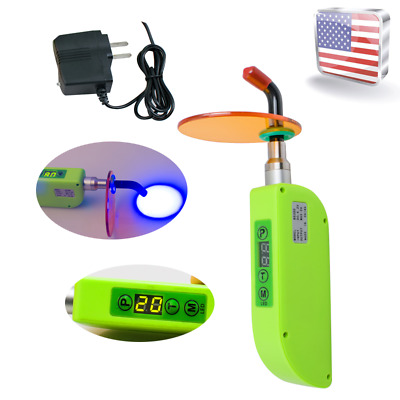 USA Stock Wireless Dental Curing Light Lamp Cordless LED Cure Tooth 1500mw