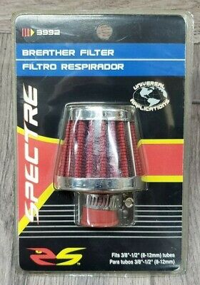 Spectre Performance 3992 Red 9mm Breather Filter SPE-3992
