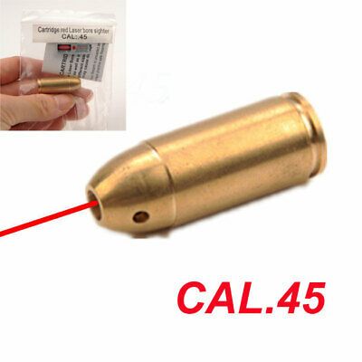 CAL.45ACP/.45 Red Dot Laser Brass Bore Sighter Cartridge Boresight for Hunting