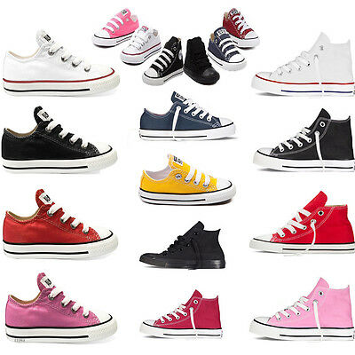 Unisex Classic Casual Canvas Low & High Top Kinder Kid Boy Girls Sneaker
