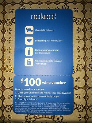 $100 Naked Wines Giftcard