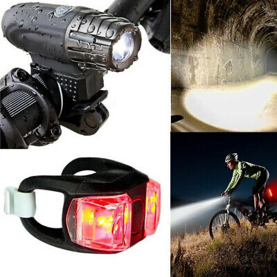Bike Bicycle Cycling Head Front Rear Lights MTB Tail Lamp USB Rechargeable Set