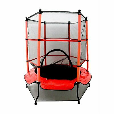 Kids Trampoline First With Safety Net Enclosure Red Cover Garden Outdoor Indoor