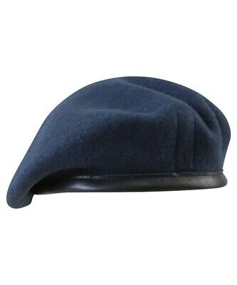 GENUINE BRITISH ISSUE Royal Air Force Blue Grey Wool Beret