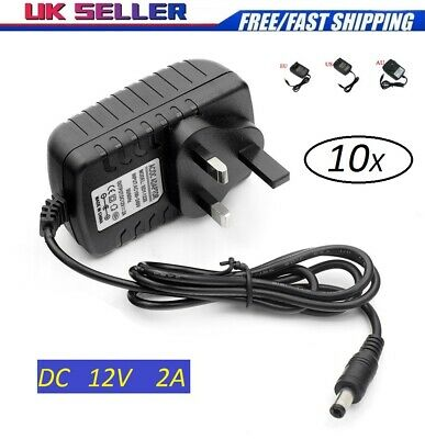 12V 2A AC to DC Adapter Charger Power Supply for LED Light Camera CCTV UK Stock