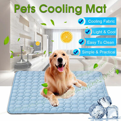 Dog Cooling Mat Pet Cat Chilly Non-Toxic Summer Cool Bed Pad Cushion Indoor AM