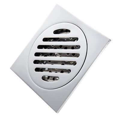 Stainless Steel Square Floor Drain Shower Wet Room Bathroom Kitchen 100x100mm US