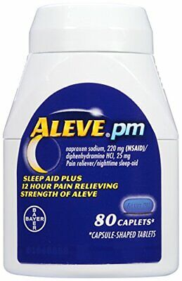 ALEVE PM NAPROXEN SODIUM 220mg PAIN RELIEVER/FEVER REDUCER 80 CAPLETS