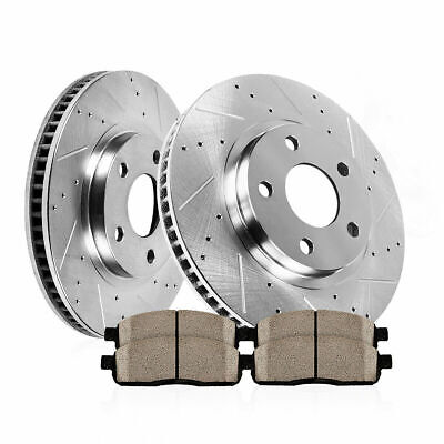 Rear Drill Slot Brake Rotors /& Metallic Pads For 300 300C Charger Magnum AWD