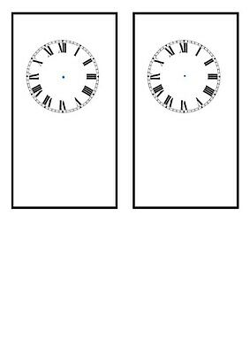 2 Carriage clock dials  on 250gsm high Gloss Card