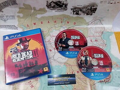 Red Dead Redemption 2 PS4 / Playstation 4 USK18 + Red Dead Karte !! Wie Neu !!