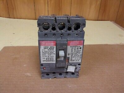 GE Spectra SELA36AT0030 Current Limiting Circuit Breaker 30 AMP 3 Pole , Damaged