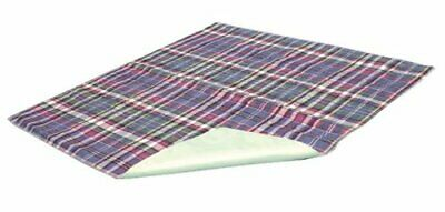 """Essential Medical Supply Quik Sorb 34"""" x 36"""" Plaid Quilted Reusable Underpad"""