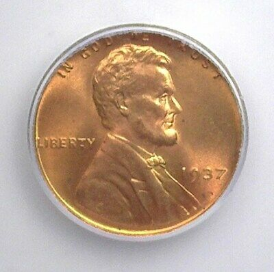 1937 Lincoln Wheat Cent Icg Ms66+ Red
