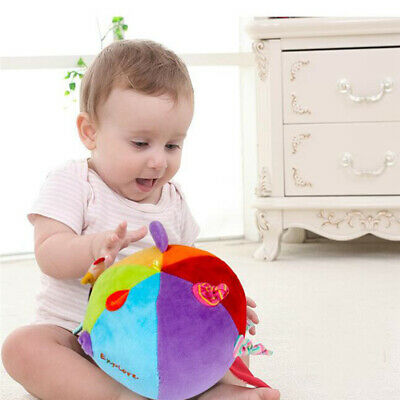 Colorful Funny For Infant Cloth Ball Bell Toy Educational Gift Soft Hand Grasp