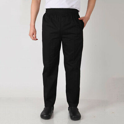 Work Men Pants Mens Trouser Pants Male Chef Baggy Staff Uniform Slack Formal