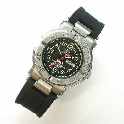 New Gents $500 Reactor 40Mm Solid Titanium 200M Wr Trident Nd Dive Watch #58481