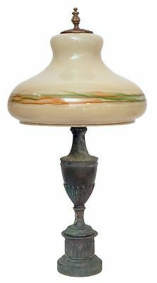 Large Original Art Nouveau Chandelier Salon Lamp 70cm High Green 1920