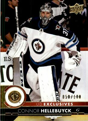 2017-18 Upper Deck Exclusives #448 Connor Hellebuyck /100