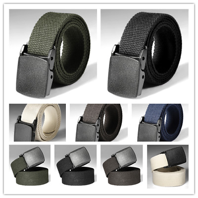-Mens Heavy Duty Military Belt Tactical Army Hunting Outdoor Utility Waistband
