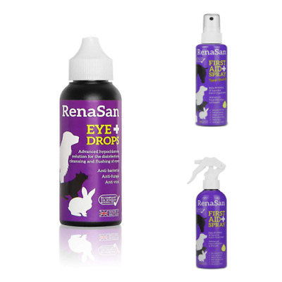 Pet Eye Drops Cleansing First Aid 60ml 100ml 250ml Spray Antiseptic All Animals