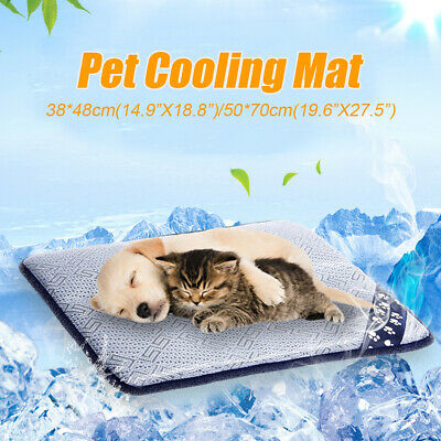 48cm 70cm Pet Dog Puppy Cat Bed Cooling Pad Mat Cushion Summer Chilly