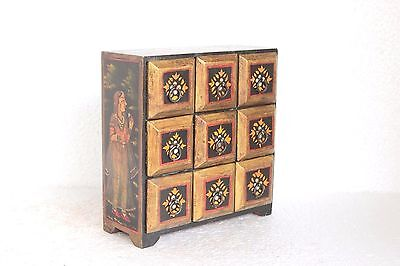 9 Drawer Chest New Antique Wooden Handicrafts Home Decor W-15