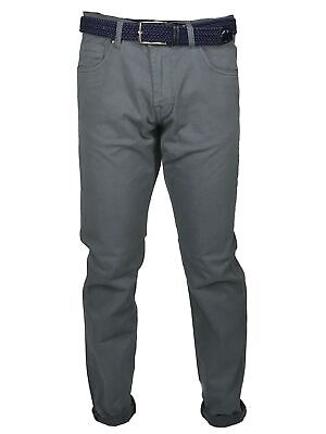 Alfio - Pantalone da Uomo Slim Fit chino in micro fantasia made in italy grigio