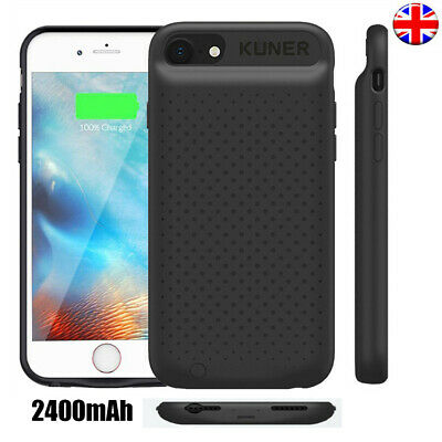 For iPhone 6 6S 7 8Plus2400mAh Slim Charger Cover Backup Battery Case Power Bank