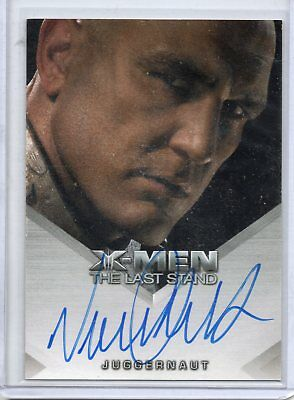 X-Men The Last Stand Film Autograph Carta - Vinnie Jones As Juggernaut