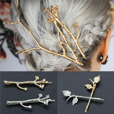 Women Stylish Tree Branch Hair Clip Gold Silver Color Hairpins Girls Headwears