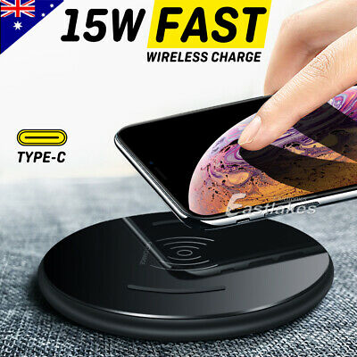 Qi Wireless Charger Pad Mat FAST CHARGE for Samsung Galaxy S10 Note 10 Plus 5G