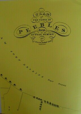 Map  Plan Town Peebles from Actual Survey Scotland 1823  New Reproduction Map