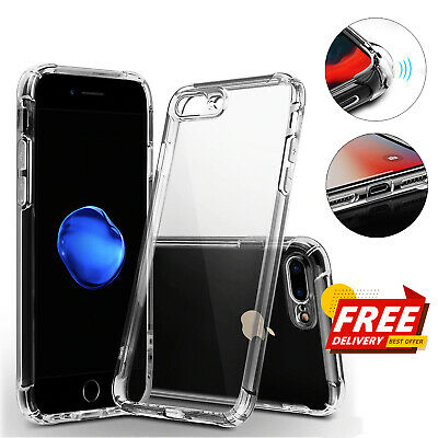 For iPhone 8 7 Case Shock Proof Crystal Clear Soft Silicone Gel Bumper Cover