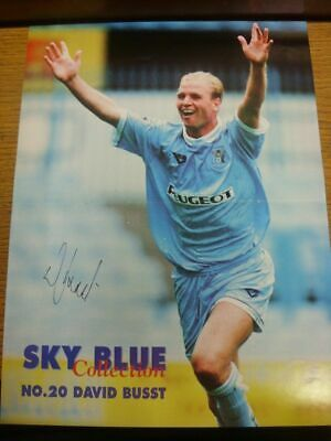 1994/1995 Autographed Magazine Picture: Coventry City - Busst, David  [Size: 34c