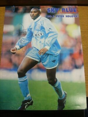1994/1995 Autographed Magazine Picture: Coventry City - Ndlovu, Peter  [Size: 34