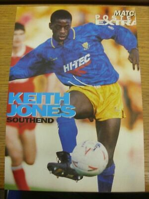 1991/1992 Autographed Magazine Picture: Southend United - Jones, Keith (Ball At
