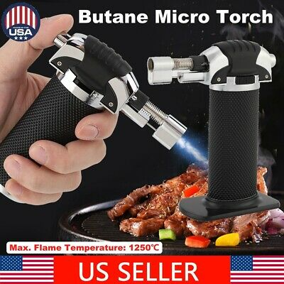 Adjustable Flame  Butane Gas Micro Torch Compact Refillable Craft Soldering Tool