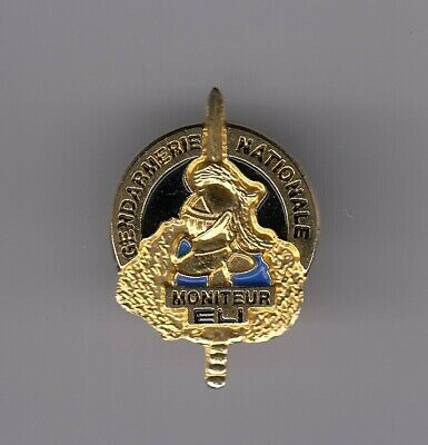 Rare Pins Pin's .. Gendarmerie Groupe Swat Intervention Eli Moniteur Or 3D ~El