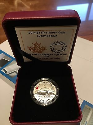 2014 $1 Pure Silver Coin - Lucky Loonie