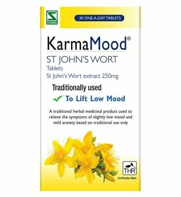 Schwabe Karma Mood 250mg 30 Tablets - Anxiety, Stress Relief, Low Mood