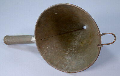 Old Vintage Rustic Industrial Galvanized Metal Funnel Good Used Condition