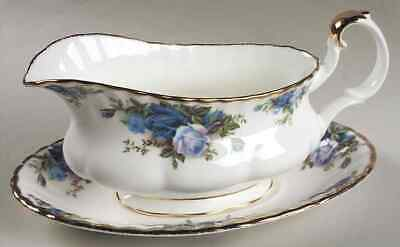 Royal Albert MOONLIGHT ROSE Gravy Boat & Underplate 618393