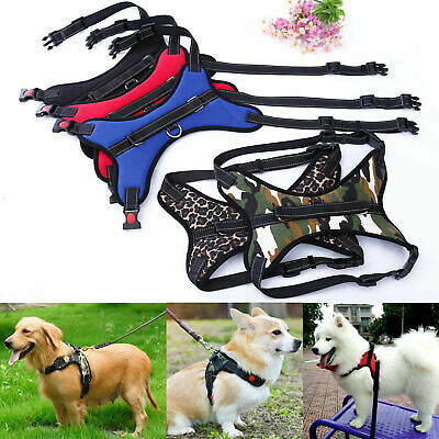 Dog Vest Harness Pet No Pull Strap Adjustable Nylon Small Medium Large XL Dogs