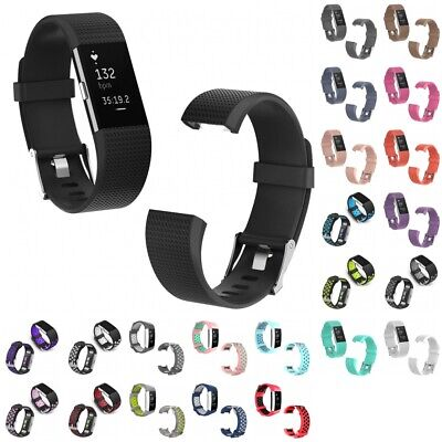 For Fitbit Charge 2, Charge 2 HR Replacement Sports Silicone Strap Band Bracelet