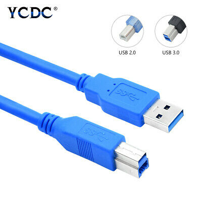High Speed Printer Cable Data Sync Scanner Cord USB 2.0/3.0 A Male to B Male C3