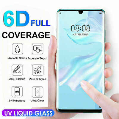 New For Huawei P30 Pro UV Liquid Tempered Glass Screen Protector Full Protection