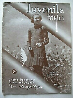 JUVENILE STYLES by MARY HOYER – knitting and crochet 1943, USA.