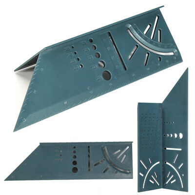 3D Mitre Angle Measuring Square Size Bevel Measure Tool With Gauge & Ruler